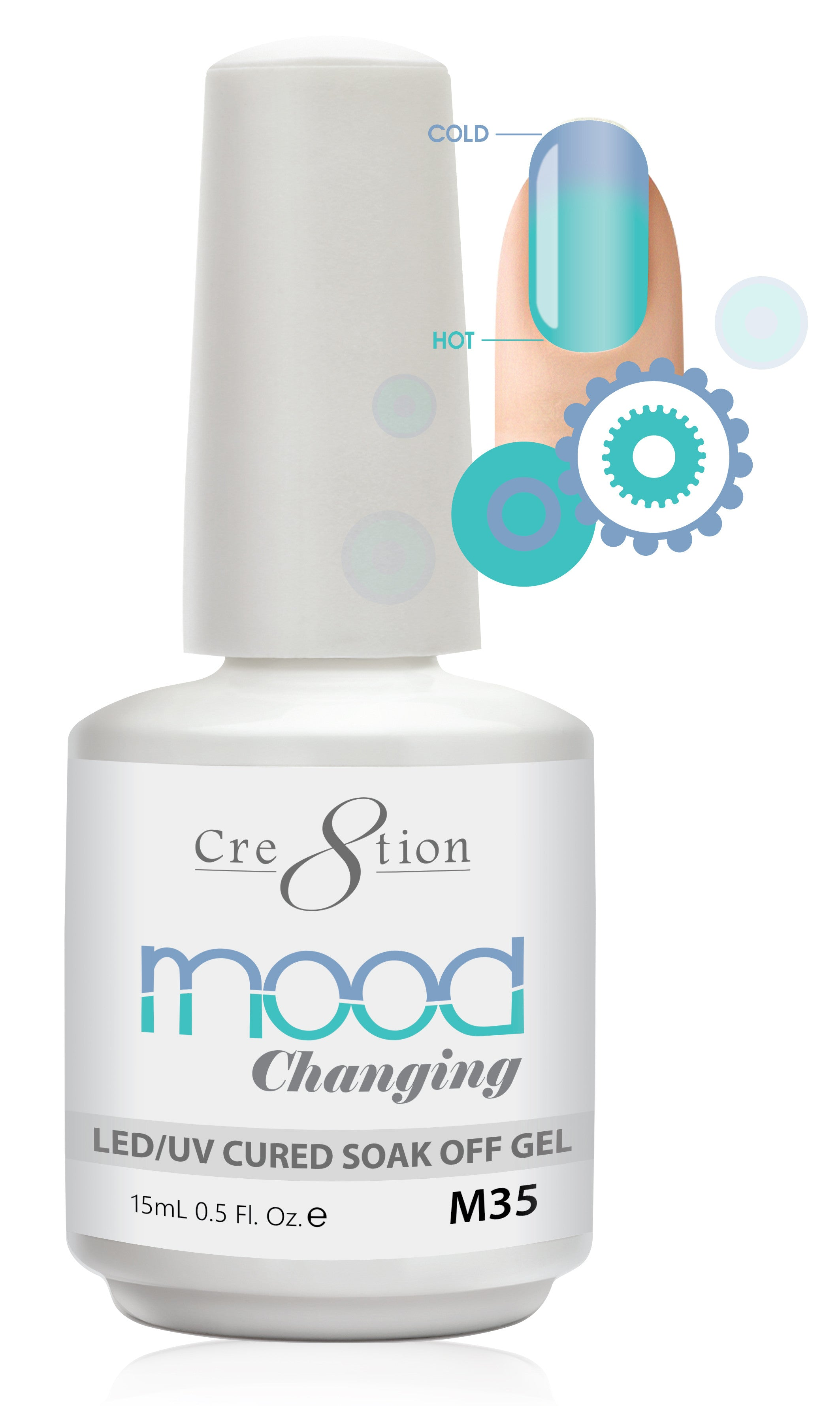 Cre8tion Mood Changing Soak Off Gel M35-Creamy
