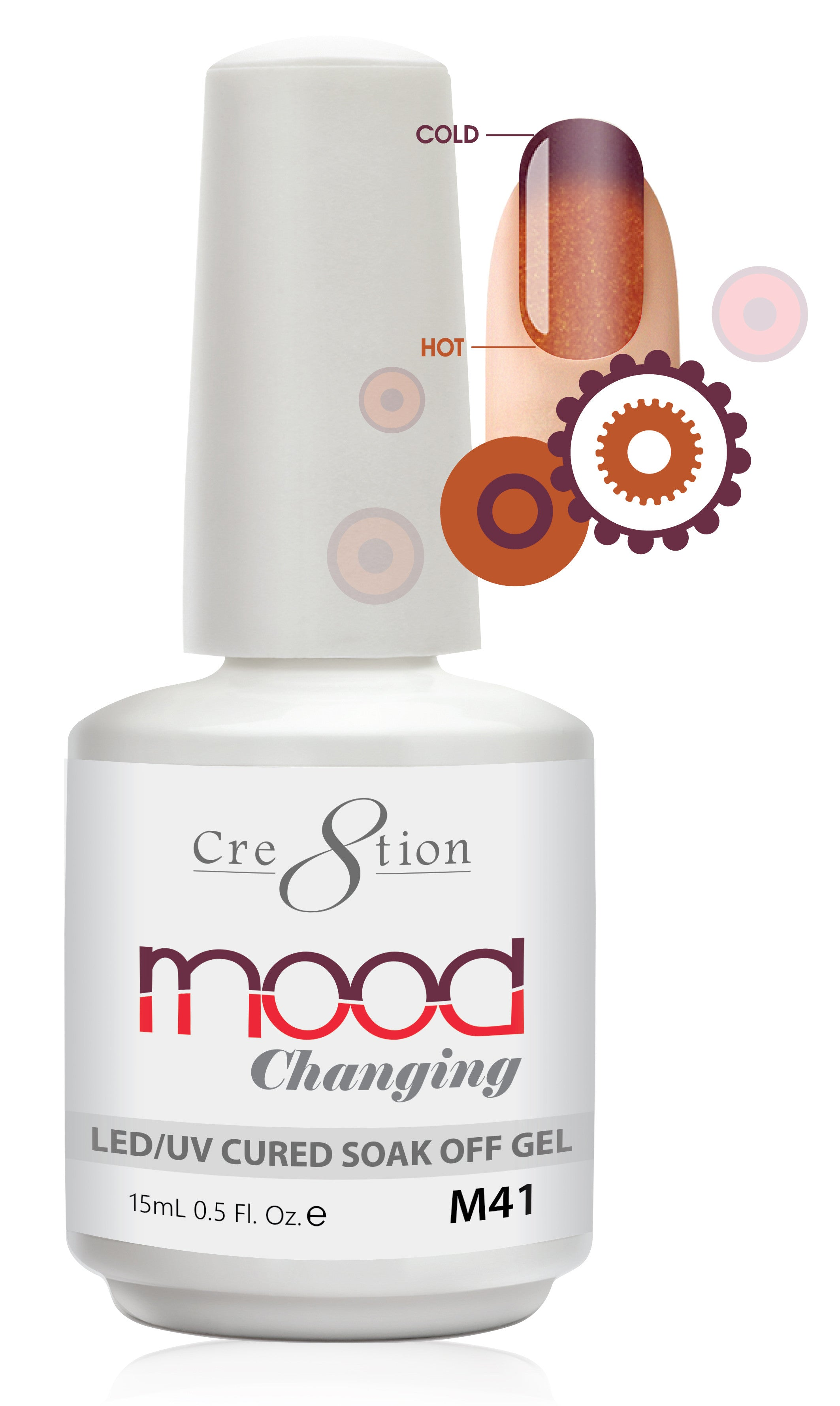 Cre8tion Mood Changing Soak Off Gel M41-Frost
