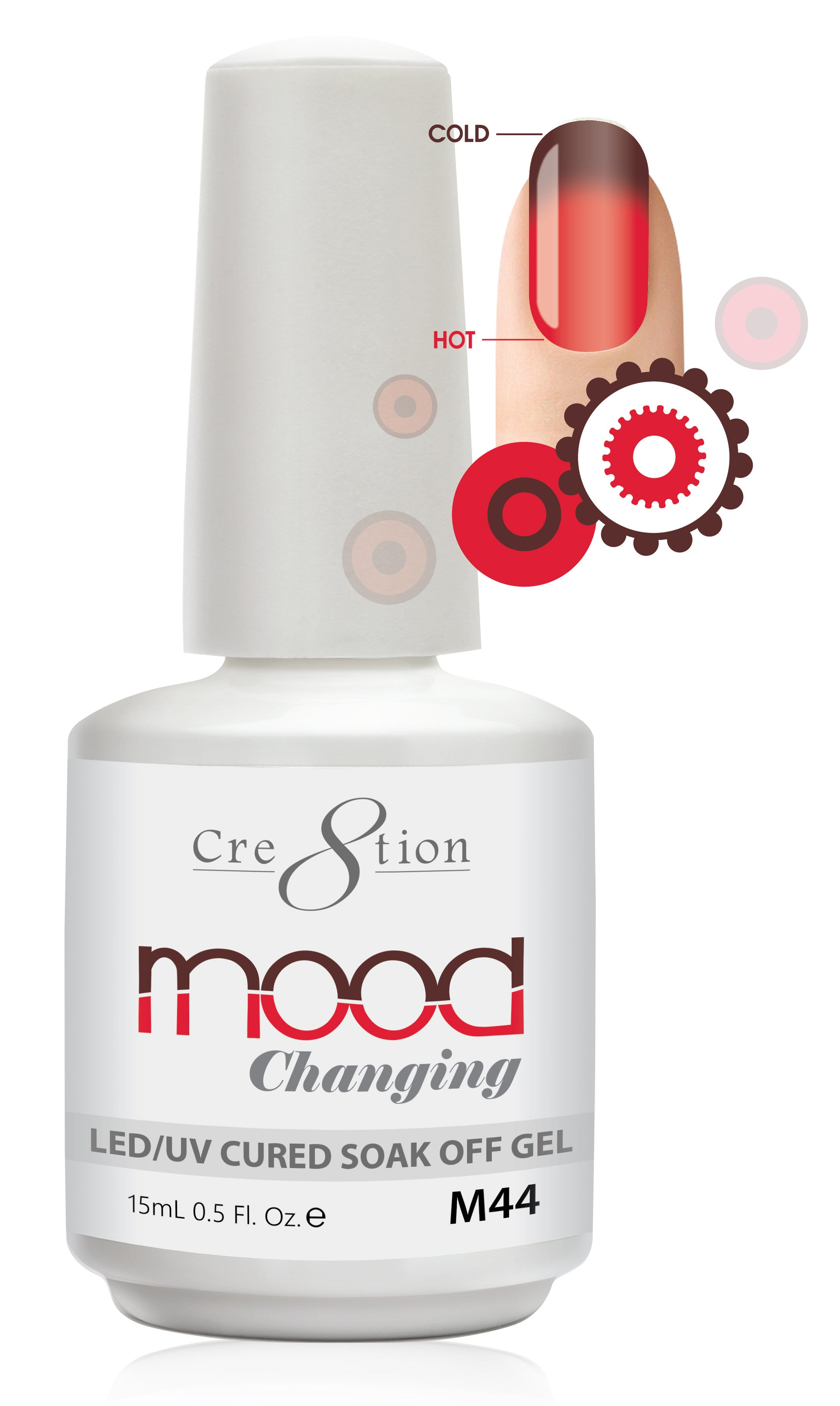 Cre8tion Mood Changing Soak Off Gel M44-Creamy