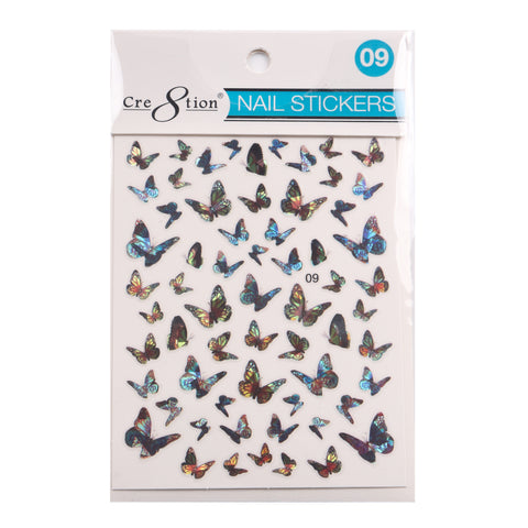 Coming Soon - Cre8tion 3D Nail Art Sticker Butterfly 09