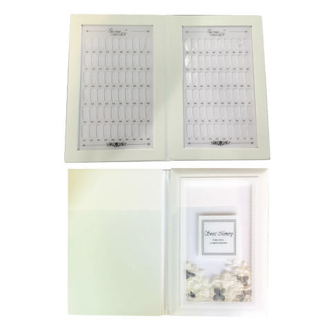 Cre8tion PMMA material tips 120 colors display book- JJPB-006