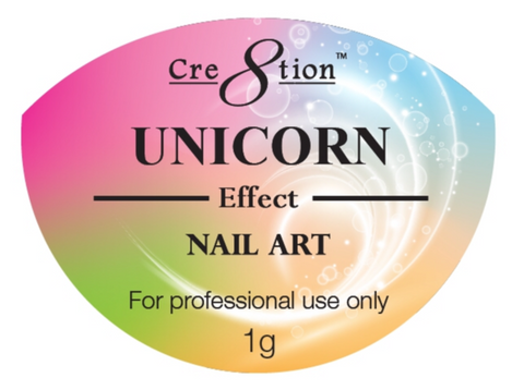 FULL SET - Cre8tion - Nail Art Unicorn Effect 6-colors