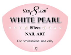 Cre8tion - Nail Art White Pearl - 1g