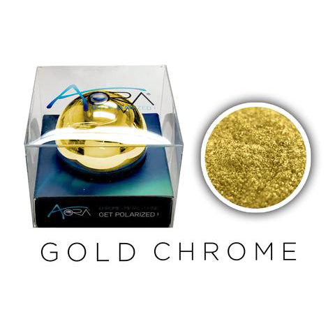 Aora Chrome Mirror Nails Pigment - 1gr pot - Gold