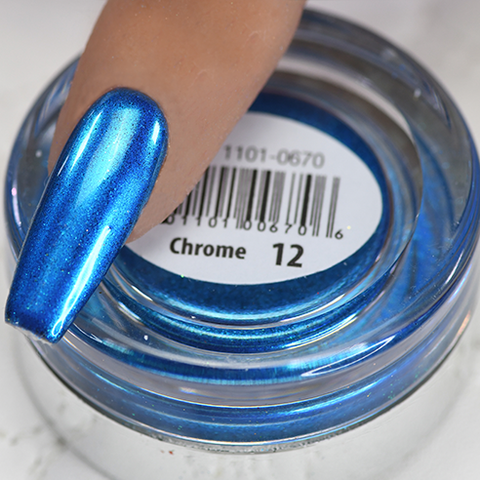 Cre8tion - Chrome Nail Art Effect 12 Bright Blue - 1g