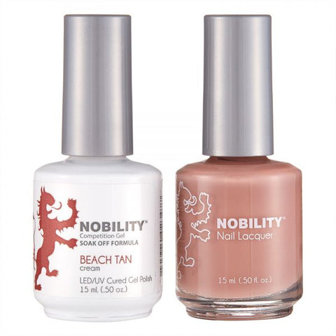 Nobility Gel Polish & Nail Lacquer, Beach Tan - NBCS029