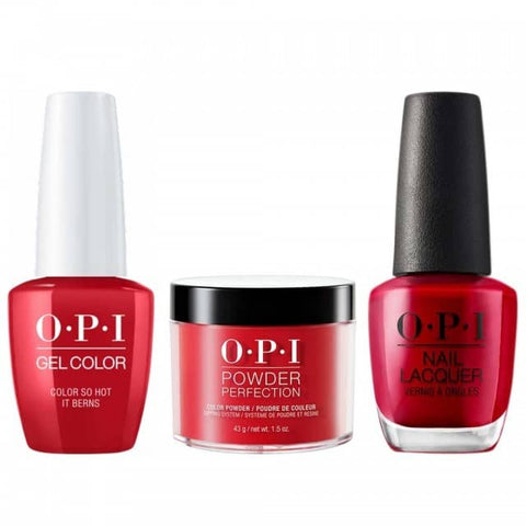 OPI COMBO 3 in 1 Matching - GCZ13A-NLZ13-DPZ13 Color So Hot It Berns