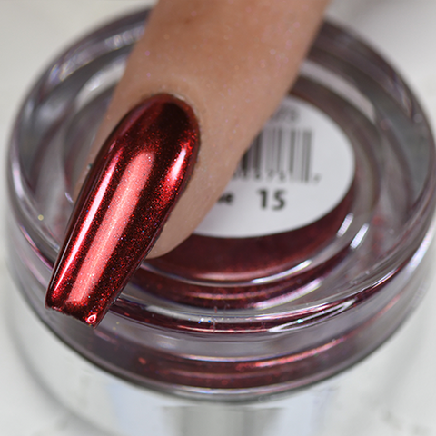 Cre8tion - Chrome Nail Art Effect 15 Dark Red - 1g