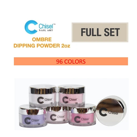 Chisel Nail Art - Dipping Powder -2 OZ  Ombré A, B Collection Full Set Of 48 Colors A, 48 Colors B