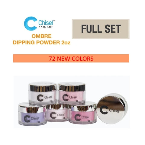 Chisel Nail Art - Dipping Powder - 2oz Ombre Powder 72 Colors - $9.00/each - Private color #49A-B to #84A-B