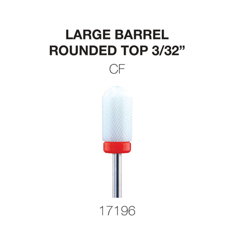 Cre8tion Ceramic Large Barrel - Rounded Top - 3/32""