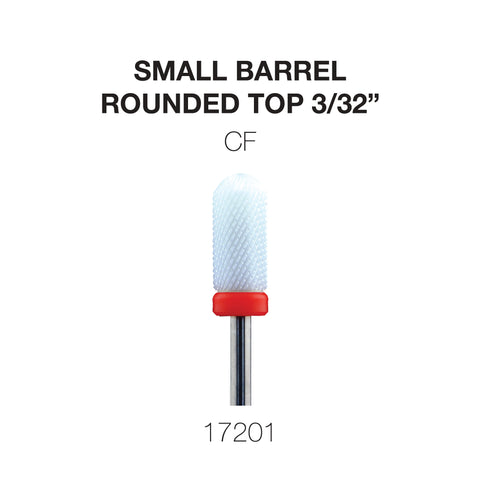 Cre8tion Ceramic Small Barrel - Rounded Top - 3/32""