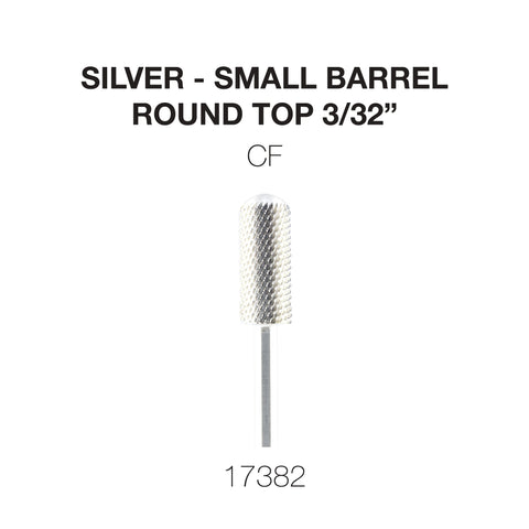 Cre8tion Silver Carbide - Small Barrel - Round Top 3/32""