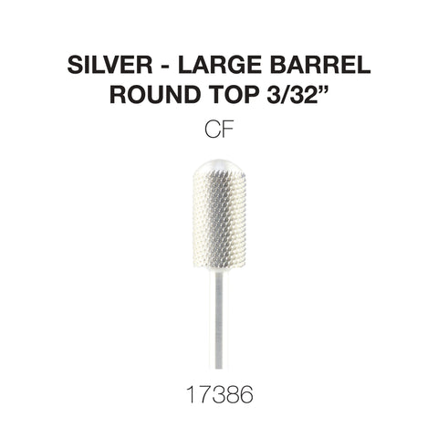 Cre8tion Silver Carbide- Large Barrel-Round Top 3/32""