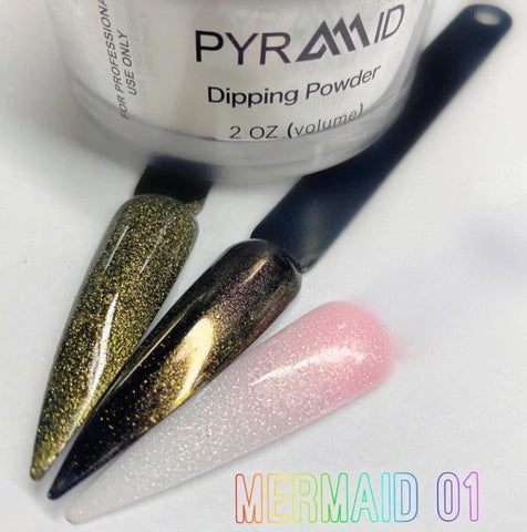 Pyramid Dipping Powder 2oz -  Mermaid Collection - Color 01 to 12