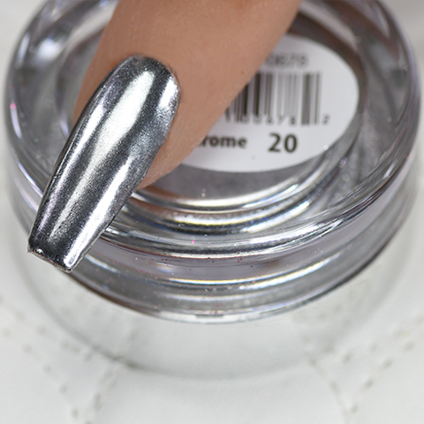 Cre8tion -  Chrome Nail Art Effect 20 Super Silver - 1g