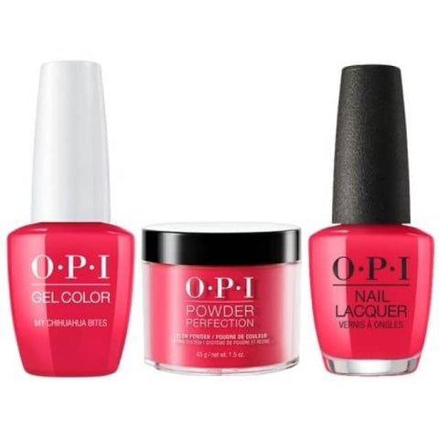 OPI COMBO 3 in 1 Matching - GCM21A-NLM21-DPM21 My Chihuahua Bites!