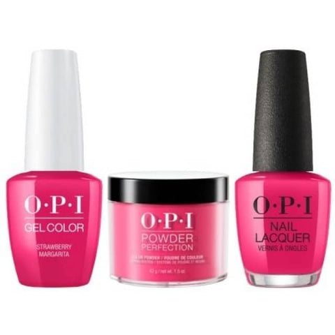 OPI COMBO 3 in 1 Matching - GCM23A-NLM23-DPM23 Strawberry Margarita