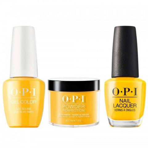OPI COMBO 3 in 1 Matching - GCL23-NLL23-DPL23 Sun, Sea, and Sand in My Pants