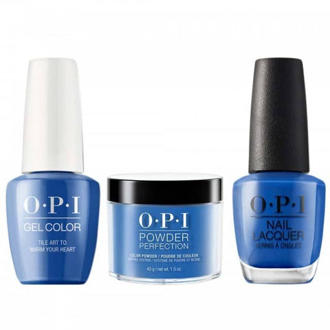 OPI COMBO 3 in 1 Matching - GCL25-NLL25-DPL25 Tile Art to Warm Your Heart
