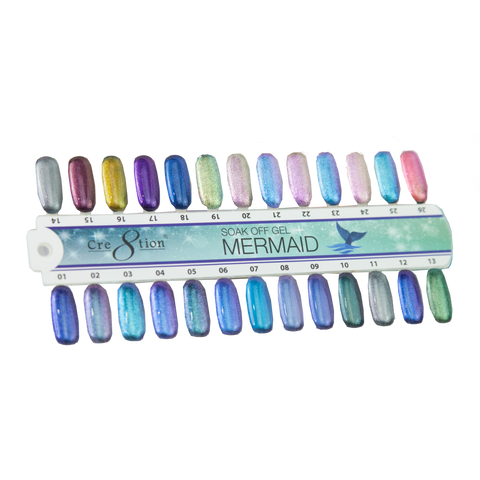 Cre8tion Mermaid Color Chart 45 colors