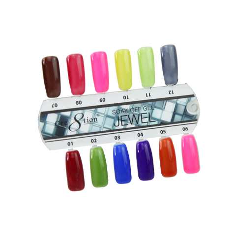 Cre8tion Jewel Gel Color Chart 12 colors