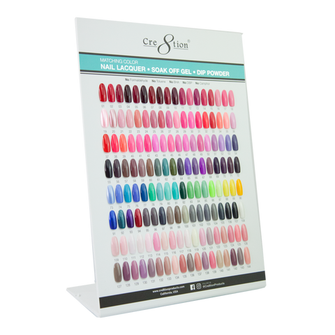 Cre8tion Counter Foam Display Gel- Lacquer-Dip Powder 288 Matching Color Chart A (Color 1-144)