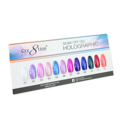 Cre8tion Paper Counter Display Holographic Gel 12 colors