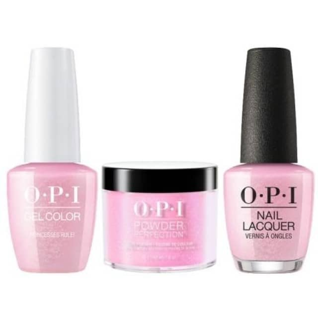 OPI COMBO 3 in 1 Matching - GCR44A-NLR44-DPR44 Princesses Rule!