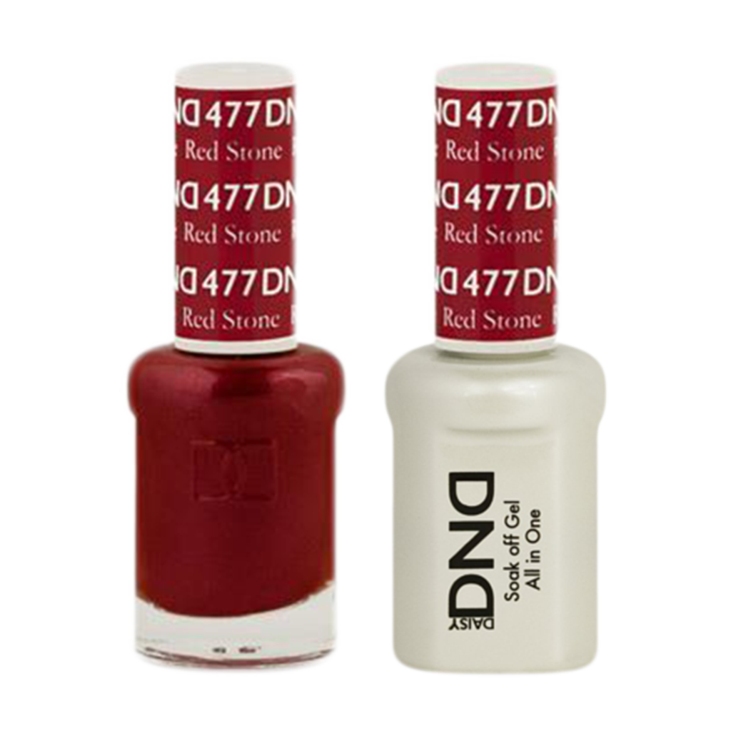 Daisy DND - Gel & Lacquer Duo - 477 Red Stone – Skylark Nail Supply