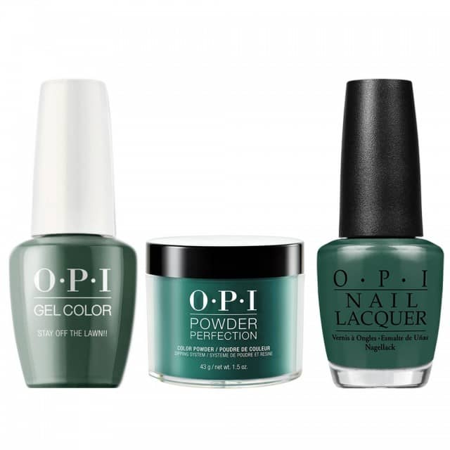 OPI COMBO 3 in 1 Matching - GCW54A-NLW54-DPW54 Stay Off the Lawn!