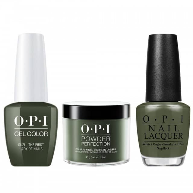 OPI COMBO 3 in 1 Matching - GCW55A-NLW55-DPW55 Suzi - The First Lady of Nails