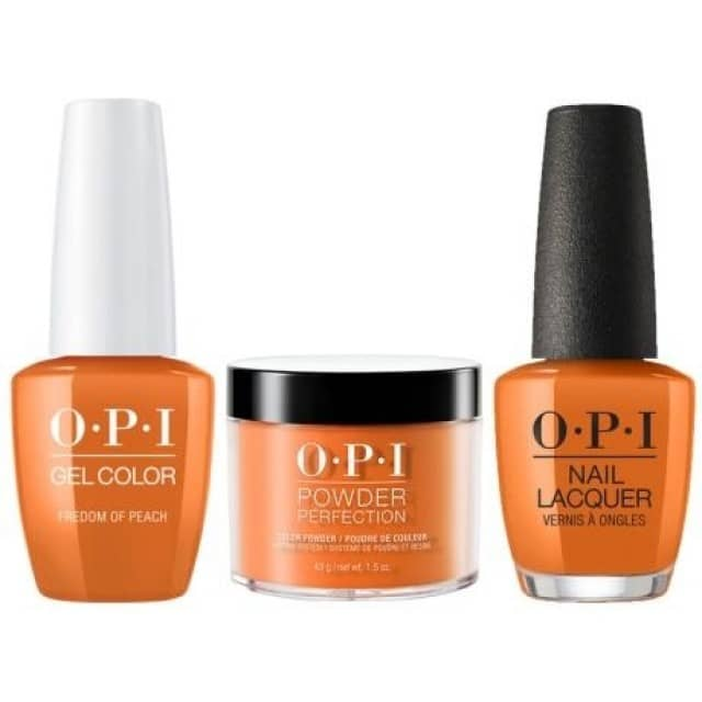 OPI COMBO 3 in 1 Matching - GCW59A-NLW59-DPW59 Freedom of Peach