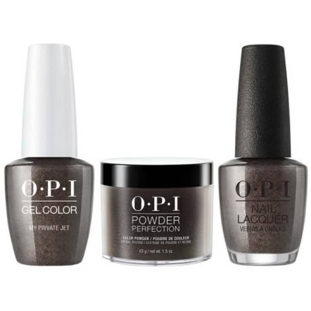 OPI COMBO 3 in 1 Matching - GCB59A-NLB59-DPB59 My Private Jet