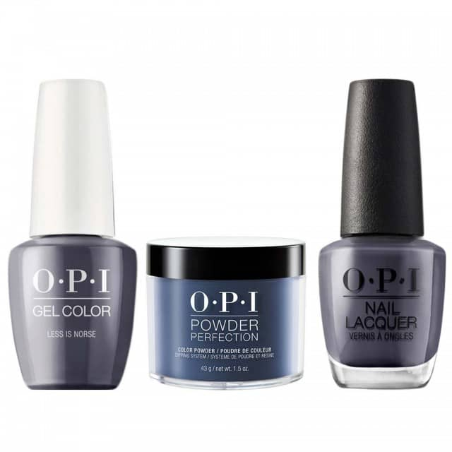 OPI COMBO 3 in 1 Matching - GCI59A-NLI59-DPI59 Less is Norse