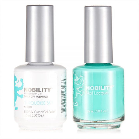 Nobility Gel Polish & Nail Lacquer, Turquoise Sky