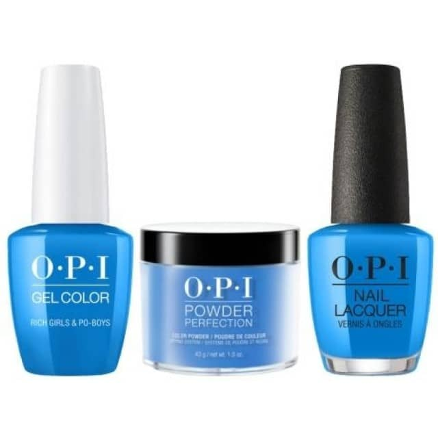 OPI COMBO 3 in 1 Matching - GCN61A-NLN61-DPN61 Rich Girls & Po-Boys