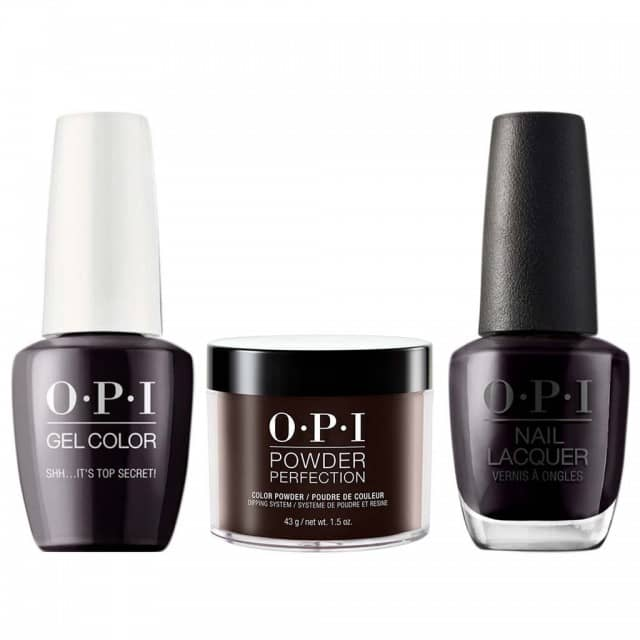 OPI COMBO 3 in 1 Matching - GCW61A-NLW61-DPW61 Shh? It's Top Secret