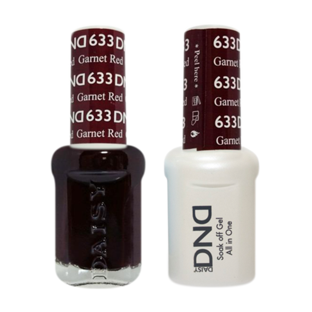 Daisy DND - Gel & Lacquer Duo - 633 Garnet Red