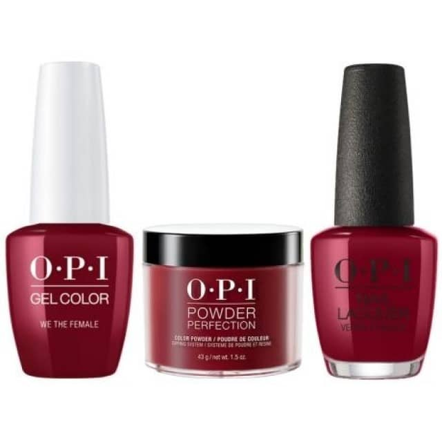 OPI COMBO 3 in 1 Matching - GCW64A-NLW64-DPW64 We the Female
