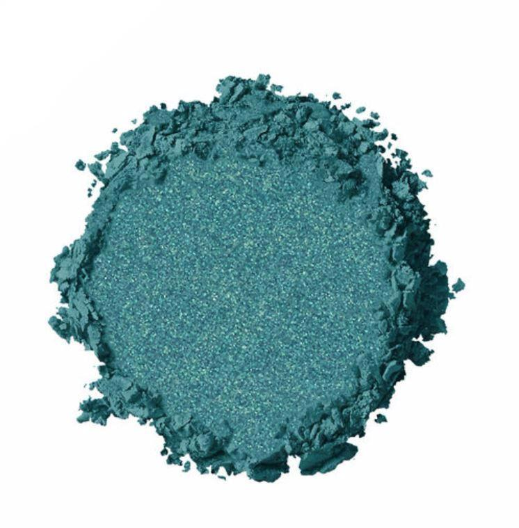 NYX - Hot Singles Eyeshadow - Dare - Teal With Gold Pearl