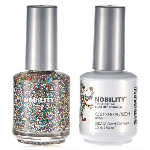 Nobility Gel Polish & Nail Lacquer, Color Explosion