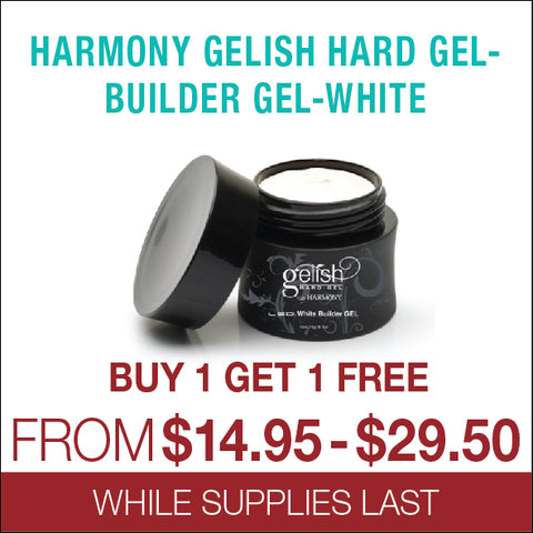 Harmony Gelish Hard Gel - Builder Gel - White - Buy 1 get 1 free