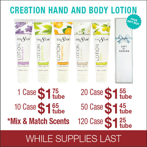 Cre8tion Hand & Body Lotion 5 Flavors - Mix & Match Scents