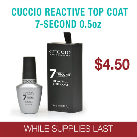Cuccio Reactive Top Coat 7-Second  0.5oz