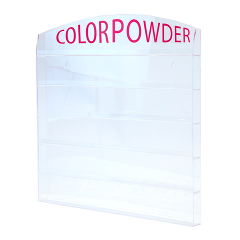 "Acrylic Wall Mounted Rack ""COLOR POWDER"""