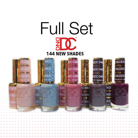 DND - Matching Color Soak Off Gel - DC Collection - FULL SET 144 Colors