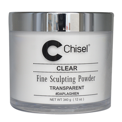 Chisel Acrylic Powder Pink & White Clear - 12oz