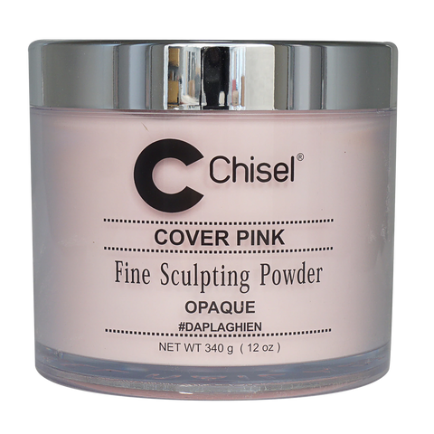 Chisel Acrylic Powder Pink & White Cover Pink - 12oz