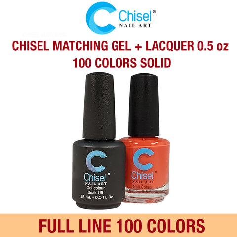 Chisel Matching Gel & Lacquer 0.5oz - Full set of 100 Colors
